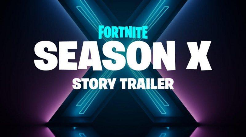 Logo voor het tiende seizoen van Fortnite, Fornite Seizoen X